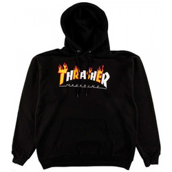 Textil Homem Sweats Thrasher Sweat flame mag hood Preto