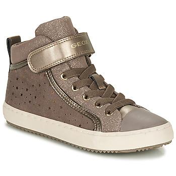 Sapatos Rapariga Sapatilhas de cano-alto Geox KALISPERE Bege