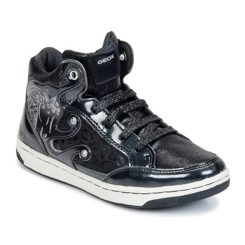 Sapatos Rapariga Sapatilhas de cano-alto Geox CREAMY A Preto