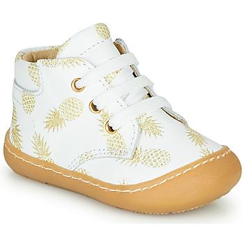 Sapatos Rapariga Sapatilhas de cano-alto GBB ATARINA Branco / Ouro