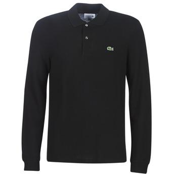 Textil Homem Polos mangas compridas Lacoste L1312 Preto