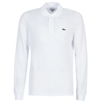Textil Homem Polos mangas compridas Lacoste L1312 Branco