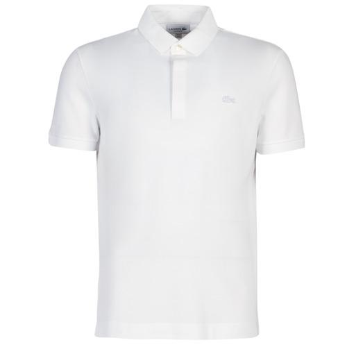Textil Homem Polos mangas curta Lacoste PARIS POLO REGULAR Branco