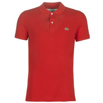 Textil Homem Polos mangas curta Lacoste PH4012 SLIM Vermelho