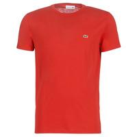 Textil Homem T-Shirt mangas curtas Lacoste TH6709 Vermelho