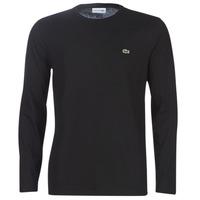 Textil Homem T-shirt mangas compridas Lacoste TH6712 Preto