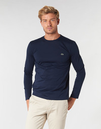 Textil Homem T-shirt mangas compridas Lacoste TH6712 Marinho