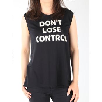 Textil Mulher Tops sem mangas Lee T-shirt  Muscle Tank Black L42CPB01 black