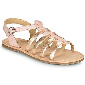 Sapatos Rapariga Sandálias Citrouille et Compagnie MAYANA Rosa / Dourado