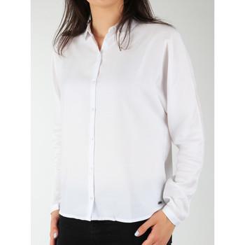 Textil Mulher camisas Wrangler Relaxed Shirt W5213LR12 white
