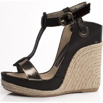 Sapatos Mulher Alpargatas Mtbali Sandalia Alpargata con cuña, Mujer - Modelo Nor Noir negro