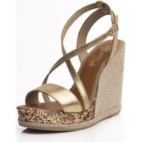 Sapatos Mulher Alpargatas Mtbali Sandalia Alpargata con cuña, Mujer - Modelo Calpe oro
