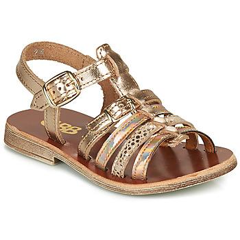 Sapatos Rapariga Sandálias GBB BANGKOK Rosa / Ouro
