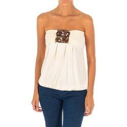 Textil Mulher camisas Met Camiseta sin Mangas Top Bege