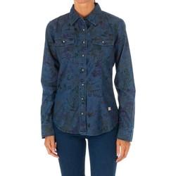 Textil Mulher camisas Met Camisa Tejana Manga Larga Azul