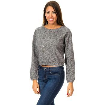 Textil Mulher Sweats Met Sudadera M/Larga con Gorro Cinza
