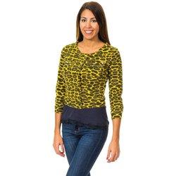 Textil Mulher Casacos de malha Met Bolero Efecto Cazadora Amarelo