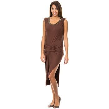 Textil Mulher Vestidos curtos Met Vestido de Tirantes Anchos Castanho