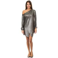 Textil Mulher Vestidos curtos Met Vestido manga larga Cinza