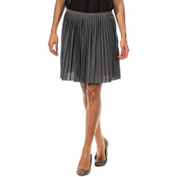 Textil Mulher Saias Met Falda Plisada Cinza