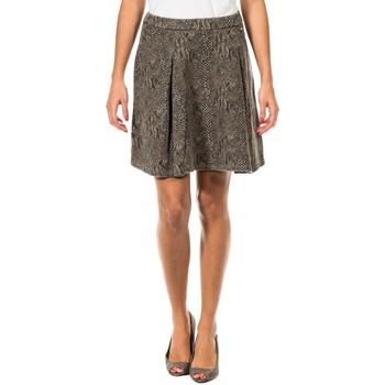 Textil Mulher Saias Met Falda en Forma de A Multicolor