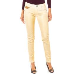Textil Mulher Calças La Martina Pantalón elástico Ouro