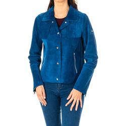 Textil Mulher Casacos/Blazers La Martina Chaqueta m/larga de Piel Azul