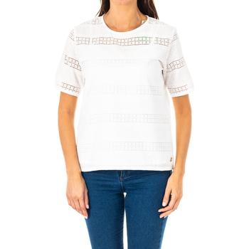 Textil Mulher Tops / Blusas La Martina Blusa manga corta Branco