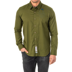 Textil Homem Camisas mangas comprida La Martina Camisa M/Larga Verde
