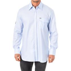 Textil Homem Camisas mangas comprida La Martina Camisa M/Larga Azul