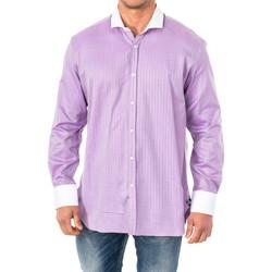 Textil Homem Camisas mangas comprida La Martina Camisa M/Larga Violeta