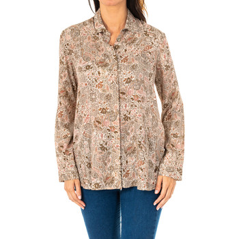 Textil Mulher camisas La Martina Camisa manga larga Castanho