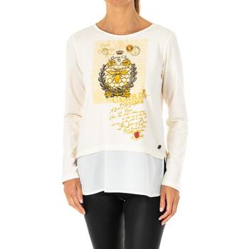 Textil Mulher T-shirt mangas compridas La Martina Camiseta Manga Larga Branco
