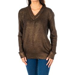 Textil Mulher camisolas La Martina Jersey m/larga Castanho
