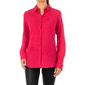 Textil Mulher camisas La Martina Camisa manga larga Rosa
