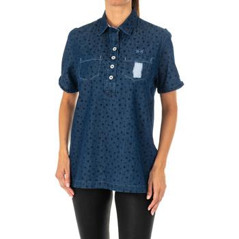 Textil Mulher camisas La Martina Camisa manga corta Azul
