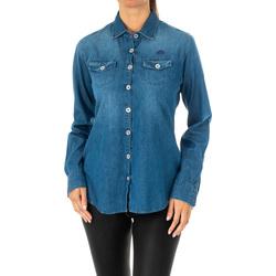 Textil Mulher camisas La Martina Camisa manga larga Azul