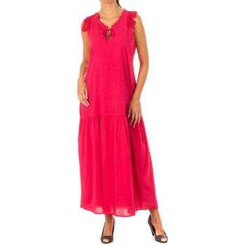 Textil Mulher Vestidos compridos La Martina Vestido Rosa
