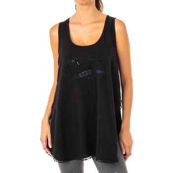 Textil Mulher Túnicas La Martina Camiseta de tirantes Preto