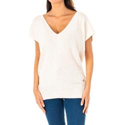 Textil Mulher camisolas La Martina Jersey m/Corta Branco