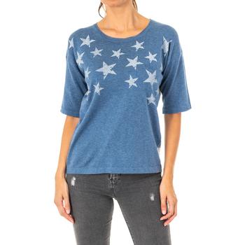 Textil Mulher camisolas La Martina Jersey Manga 3/4 Azul