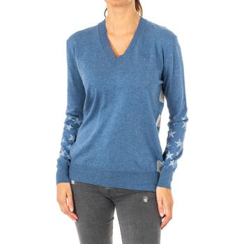 Textil Mulher camisolas La Martina Jersey Manga larga Azul