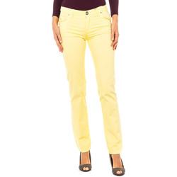 Textil Mulher Calças La Martina Pantalón Stretch Amarelo