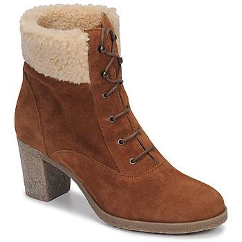 Sapatos Mulher Botins André BOHEME Camel