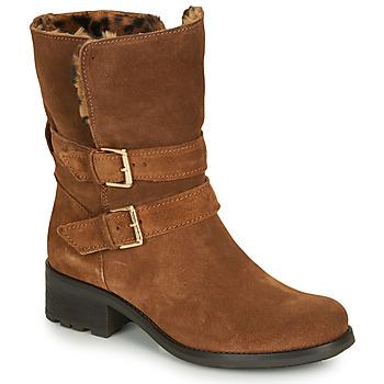 Sapatos Mulher Botas baixas André MAJOLIE Camel