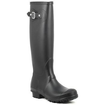 Sapatos Mulher Botas de borracha Moda Italiana BOB negro Noir