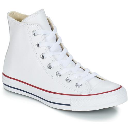 Sapatos Sapatilhas de cano-alto Converse Chuck Taylor All Star CORE LEATHER HI Branco