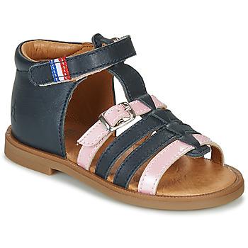 Sapatos Rapariga Sandálias GBB GUINGUETTE Marinho / Rosa