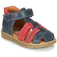Sapatos Rapaz Sandálias GBB MACARON Marinho / Vermelho