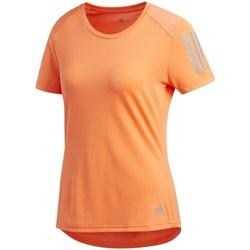 Textil Mulher T-Shirt mangas curtas adidas Originals Own The Run Tee Cor de laranja